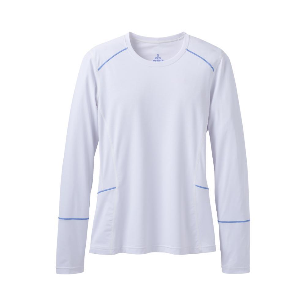 prAna Women's Eileen Long Sleeve Sun Top WHITE