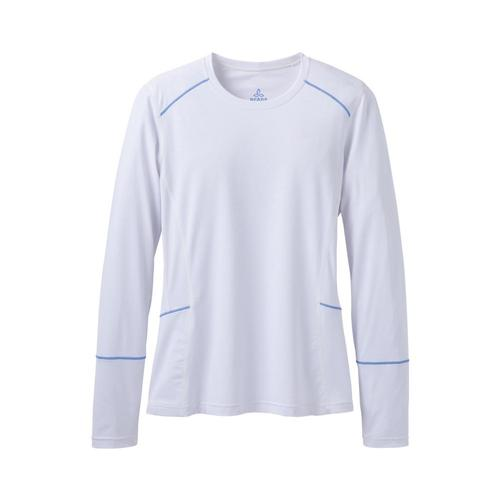 prAna Women's Eileen Long Sleeve Sun Top White