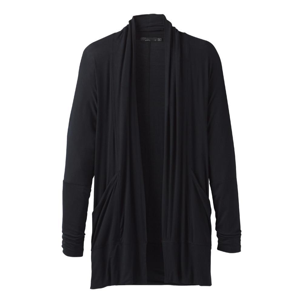 prAna Women's Foundation Wrap Cardigan BLACK