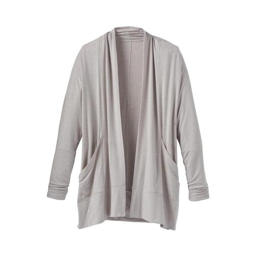 prAna Women's Foundation Wrap Cardigan Ltgrey