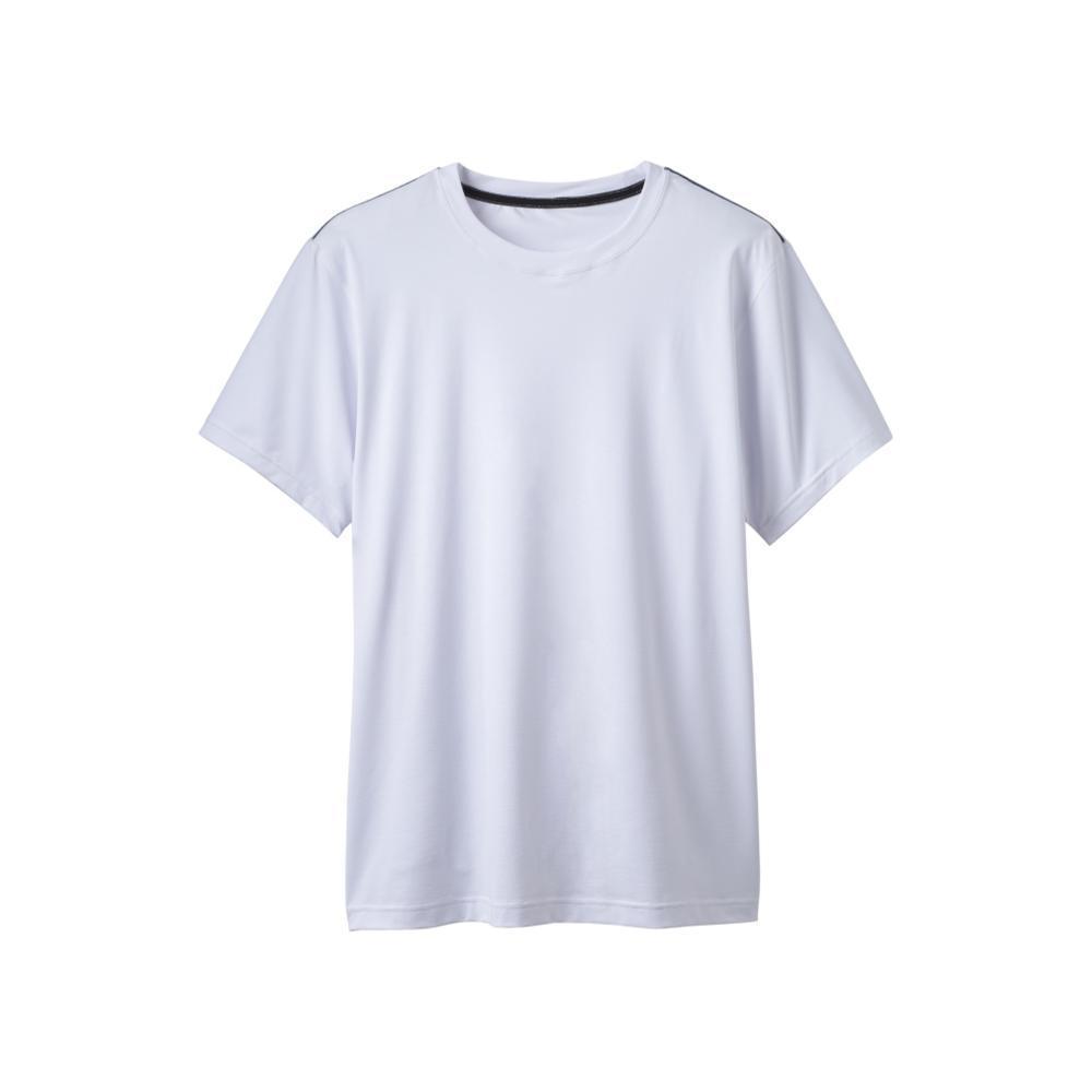 prAna Men's Calder Short Sleeve Shirt WHITE