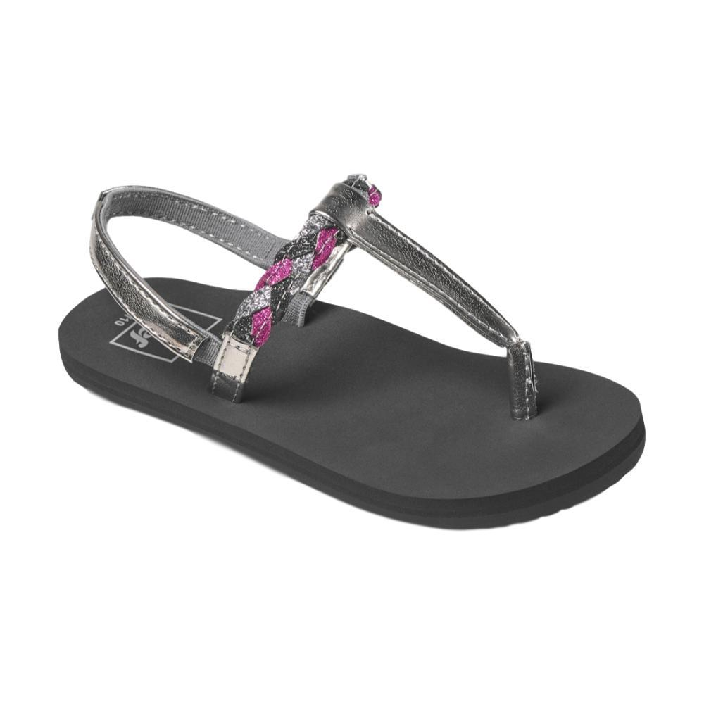 Reef Girls Little Twisted T Sandals BLACK_BPR