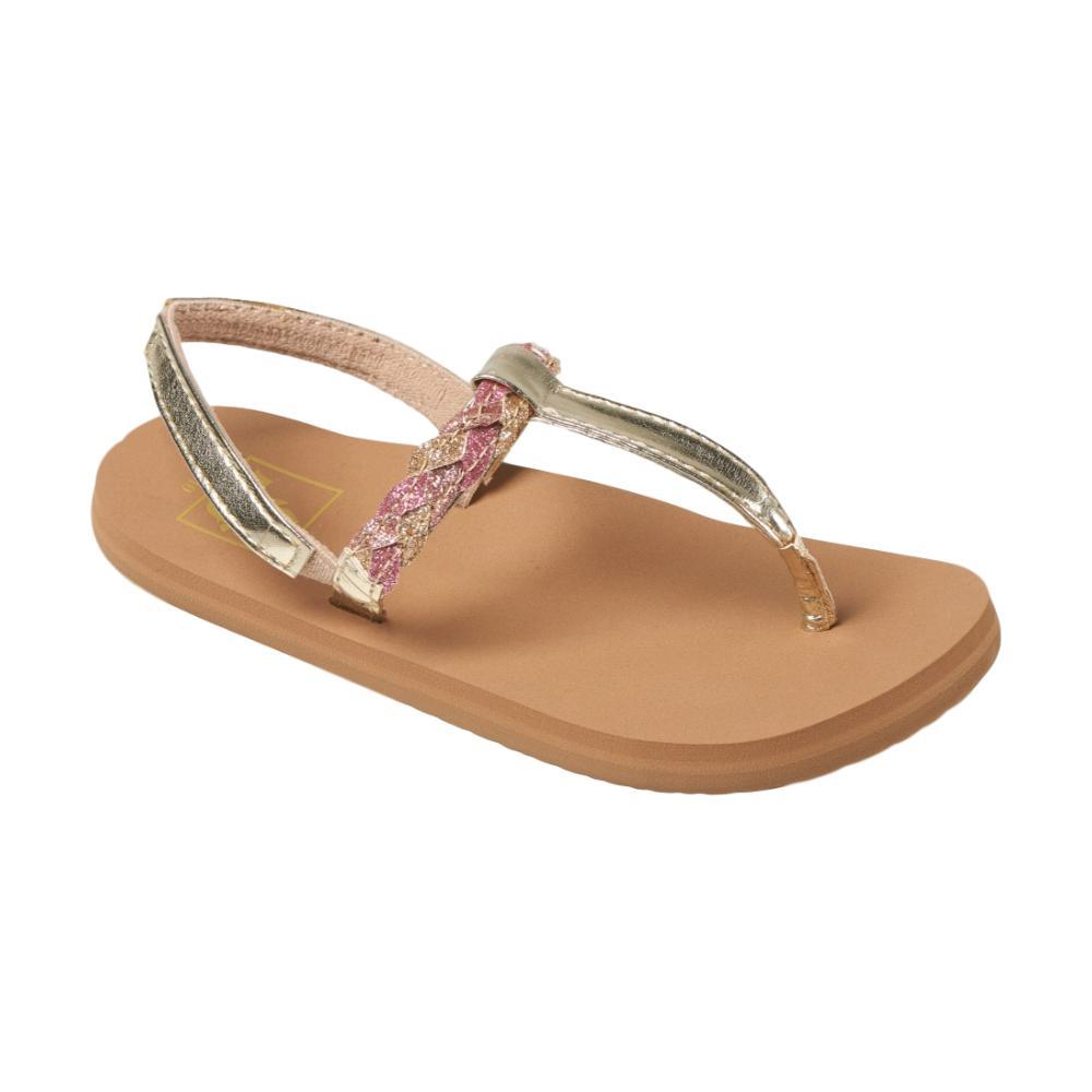 Reef Girls Little Twisted T Sandals TANPNK_TAP