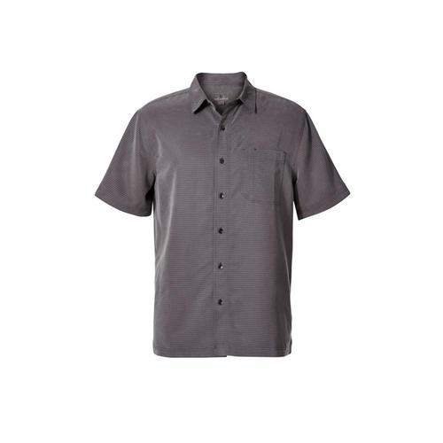 Royal Robbins Men's Desert Pucker Dry Short Sleeve Shirt Asphalt