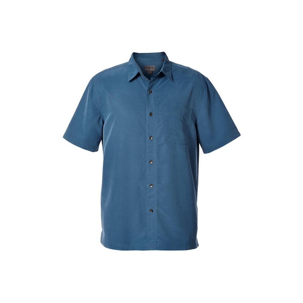 Royal Robbins Men's Desert Pucker Dry Short Sleeve Shirt BLUESTONE
