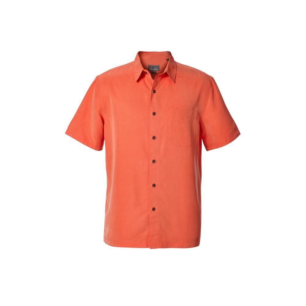 Royal Robbins Men's Desert Pucker Dry Short Sleeve Shirt EMBERGLOW