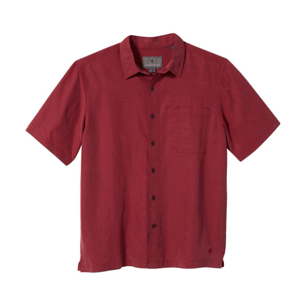 Royal Robbins Men's Desert Pucker Dry Short Sleeve Shirt ROSEWOOD_829