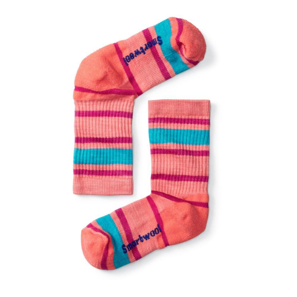 Smartwool Kids Striped Hike Light Crew Socks CORAL494