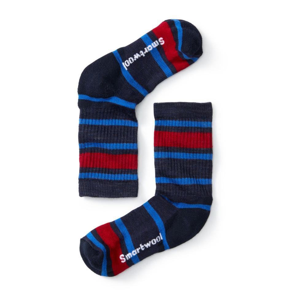 Smartwool Kids Striped Hike Light Crew Socks NAVY092