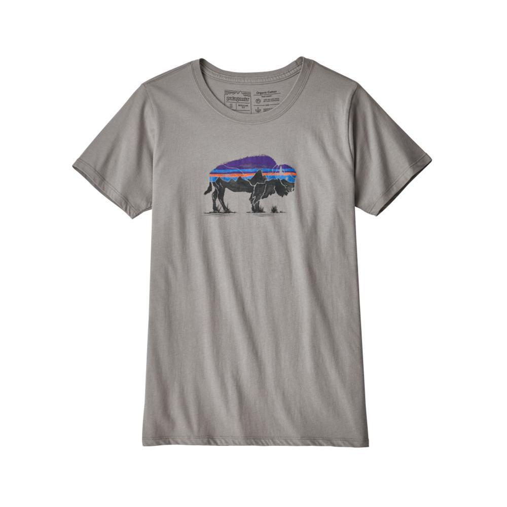 Patagonia Women's Fitz Roy Bison Organic Crew T-Shirt FGREY_FEA