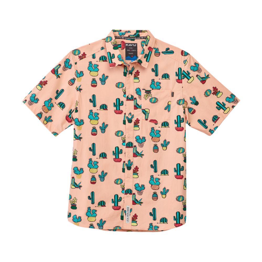 KAVU Men's Festaruski Shirt PRICKLEPERFPINK
