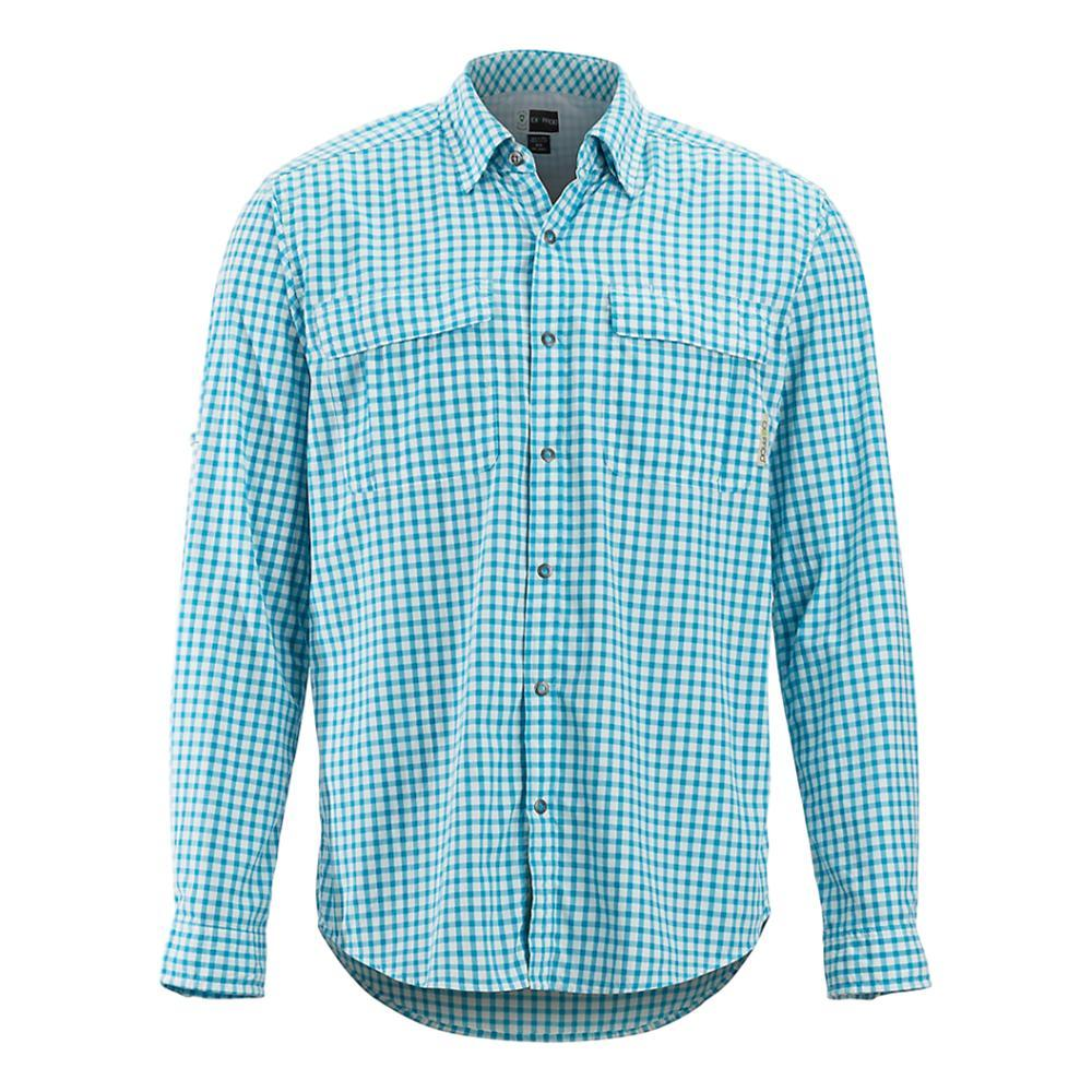 ExOfficio Men's BugsAway Halo Check Long Sleeve Shirt AIRBLUE