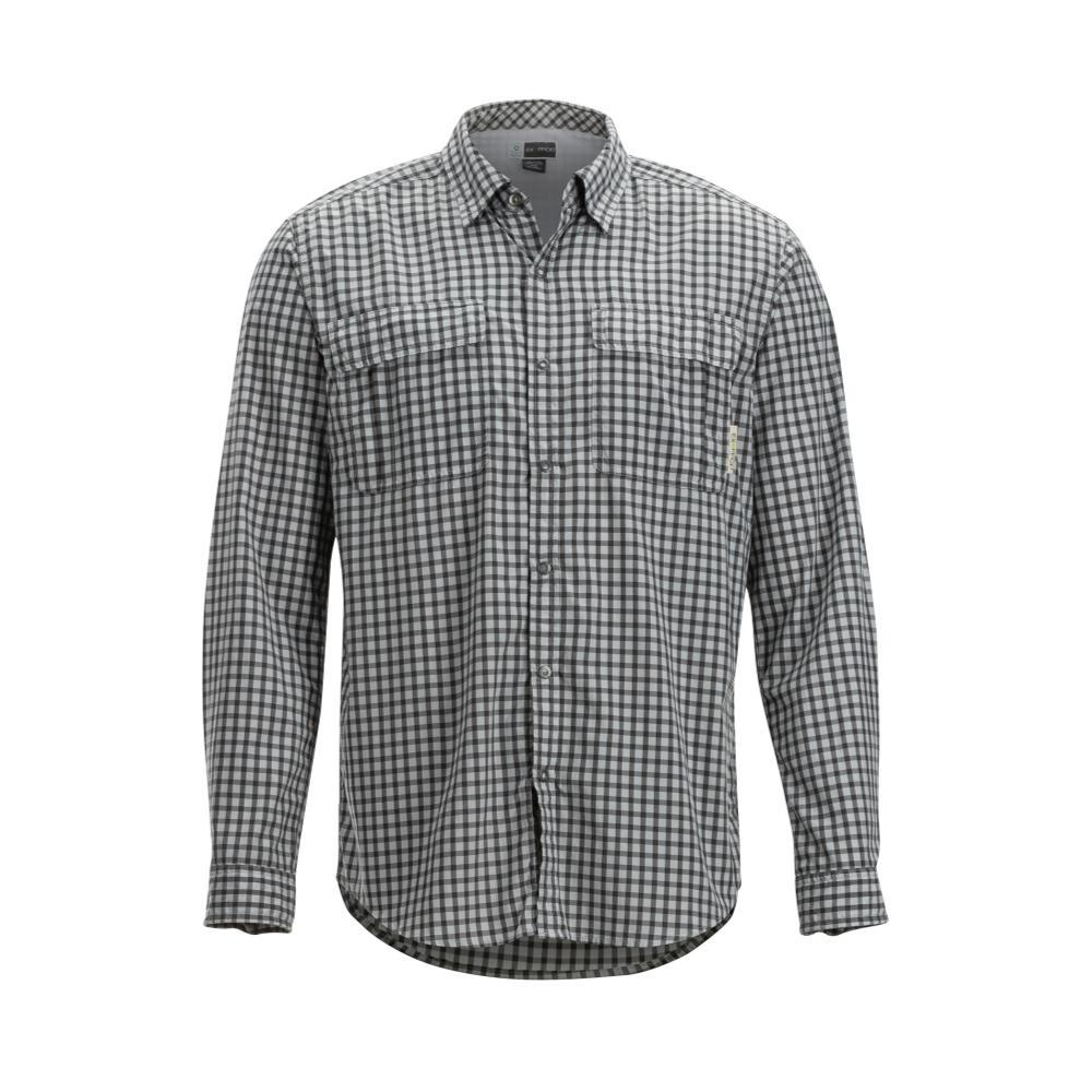 ExOfficio Men's BugsAway Halo Check Long Sleeve Shirt GREY