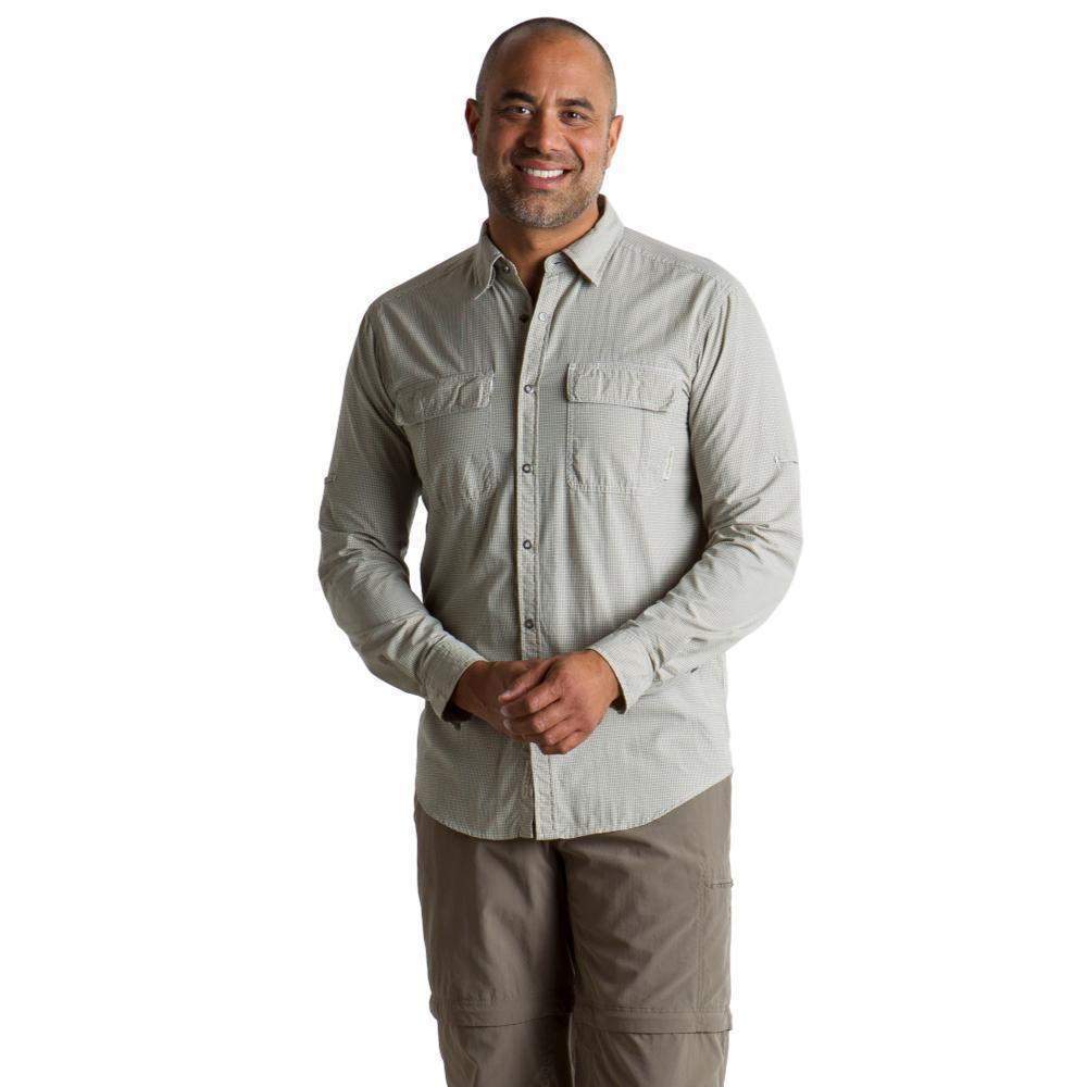 ExOfficio Men's BugsAway Halo Check Long Sleeve Shirt KHAKICH