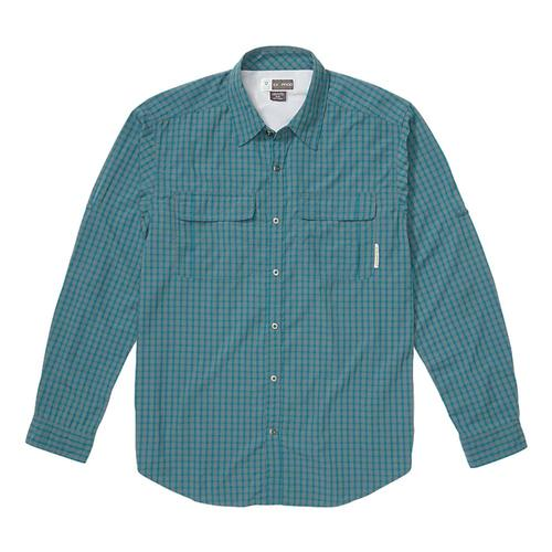 ExOfficio Men's BugsAway Halo Check Long Sleeve Shirt Ponderosa