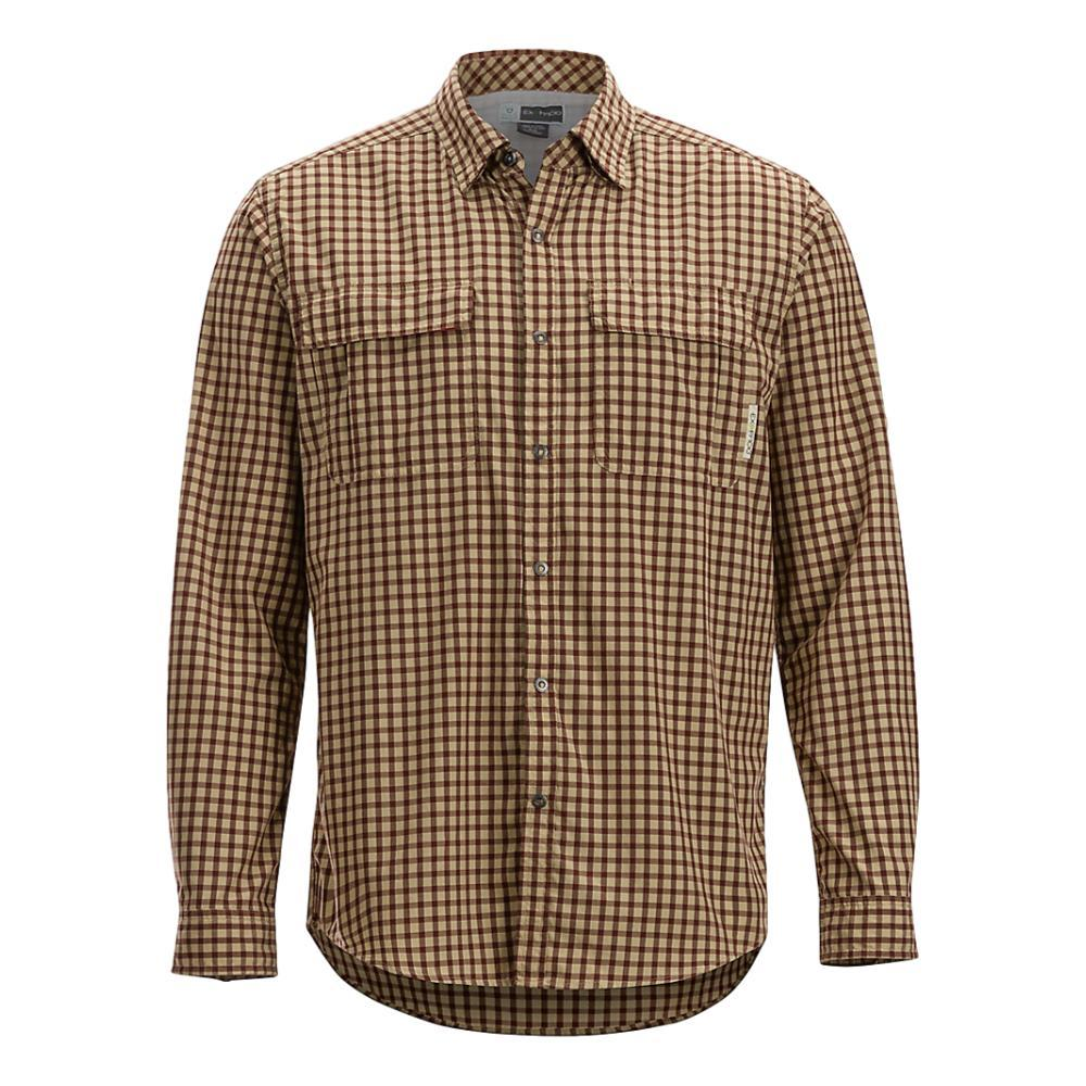 ExOfficio Men's BugsAway Halo Check Long Sleeve Shirt RETRORED