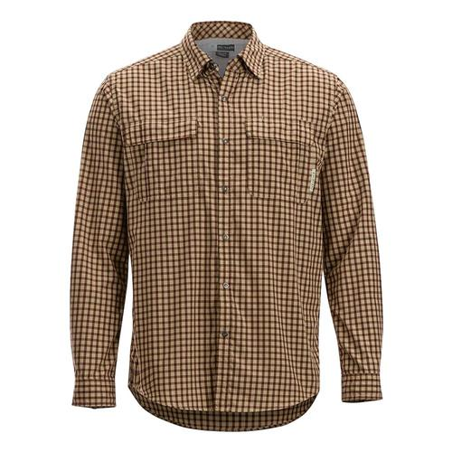ExOfficio Men's BugsAway Halo Check Long Sleeve Shirt Retrored