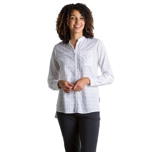 ExOfficio Women's BugsAway Collette Long Sleeve Shirt White