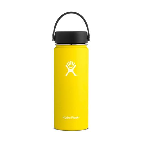 Hydro Flask 18oz Wide Mouth Bottle - Flex Cap Lemon