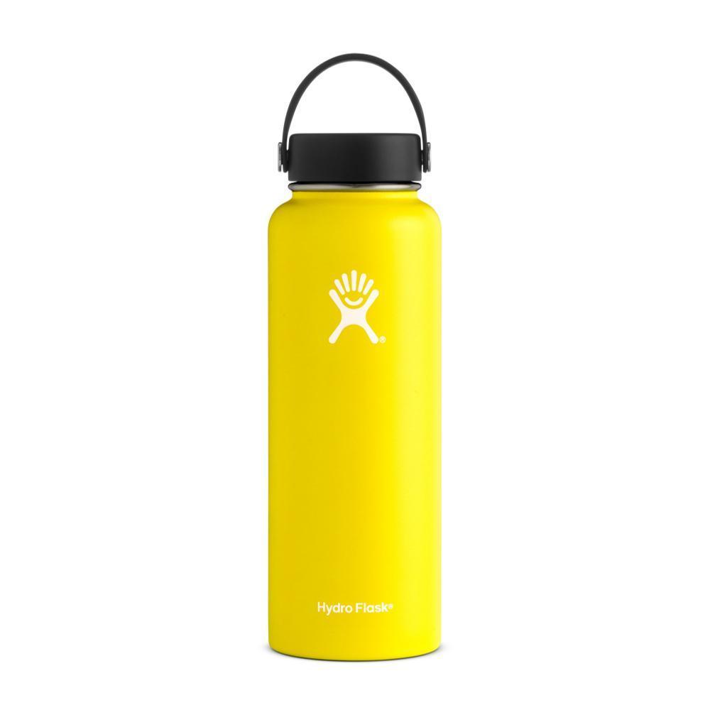 Hydro Flask 40oz Wide Mouth Bottle - Flex Cap LEMON
