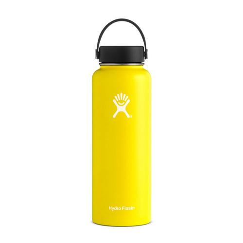 Hydro Flask 40oz Wide Mouth Bottle - Flex Cap Lemon