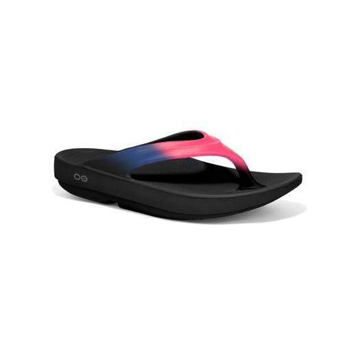 OOFOS Women's OOlala Flip Sandals Blkflam