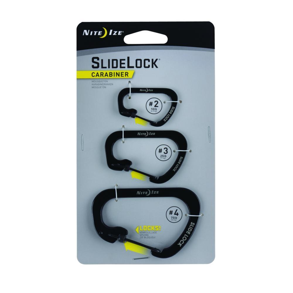 Nite Ize SlideLock Carabiner - 3-Pack BLK