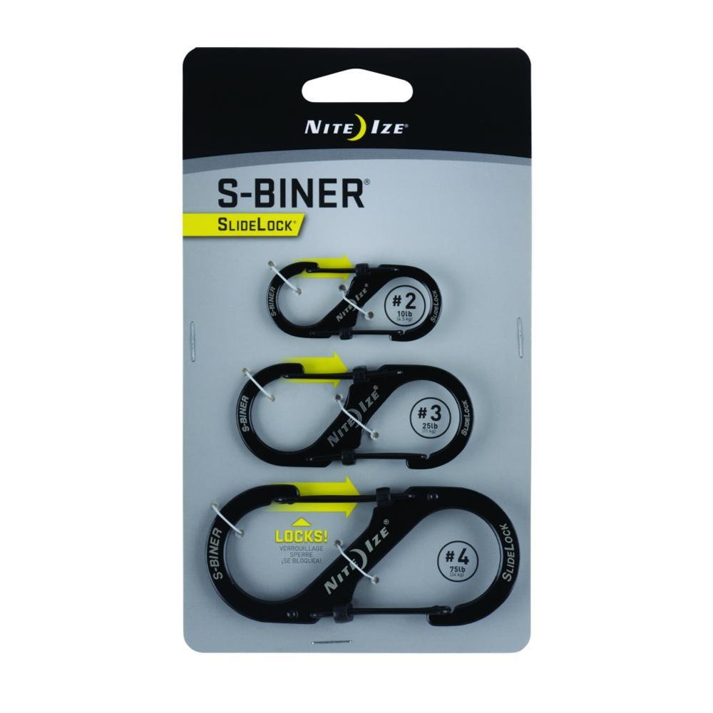 Nite Ize S-Biner SlideLock - 3-Pack BLK