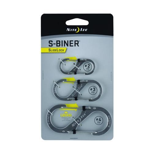Nite Ize S-Biner SlideLock - 3-Pack Stnls
