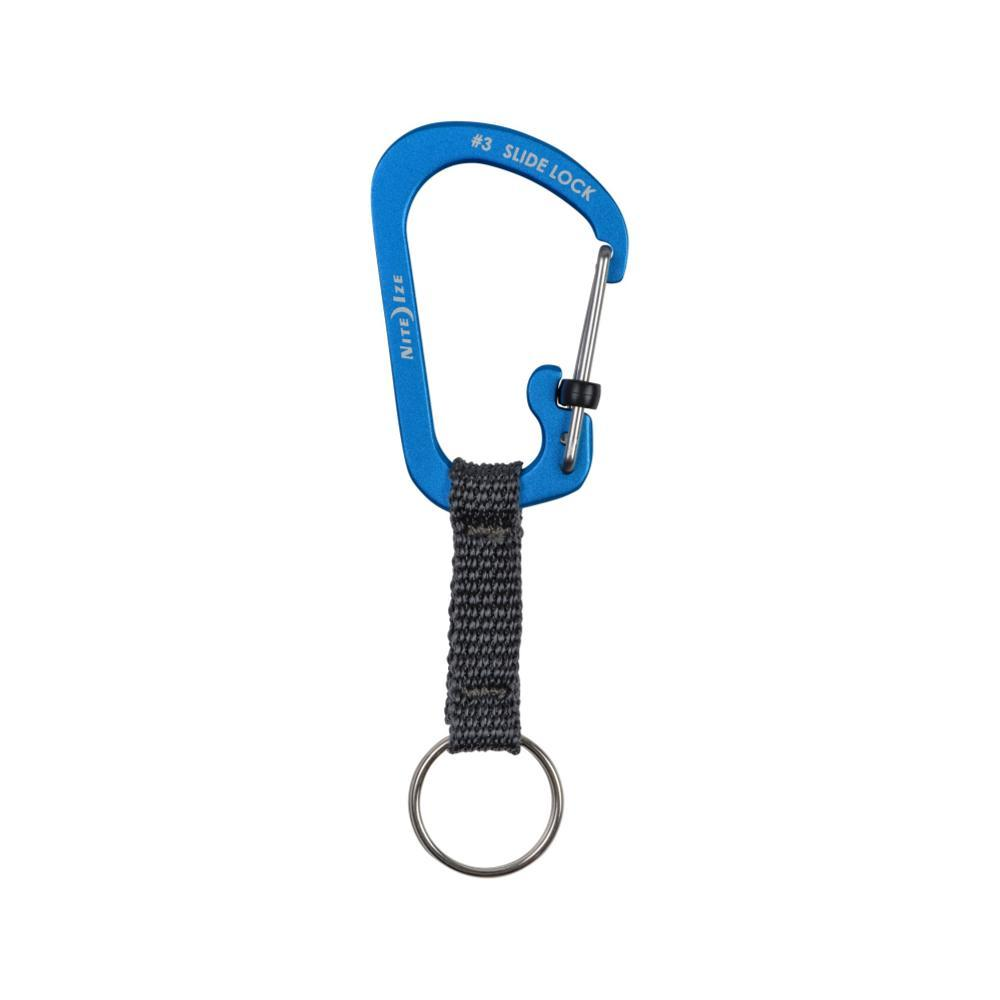 Nite Ize Slidelock Key Ring Aluminum BLUE