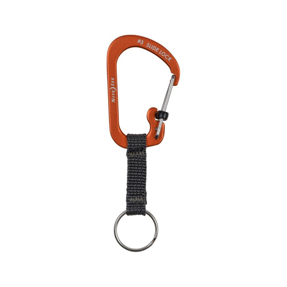 Nite Ize Slidelock Key Ring Aluminum ORANGE