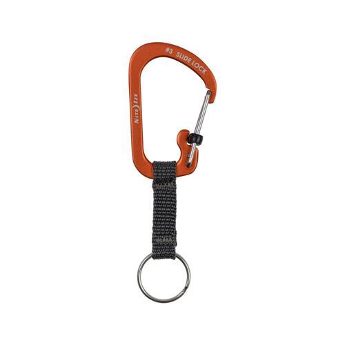 Nite Ize Slidelock Key Ring Aluminum Orange