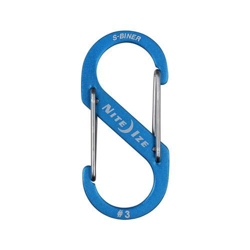 Nite Ize S-Biner Dual Carabiner Aluminum #3 Blue