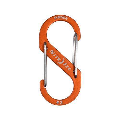 Nite Ize S-Biner Dual Carabiner Aluminum #3 Orange