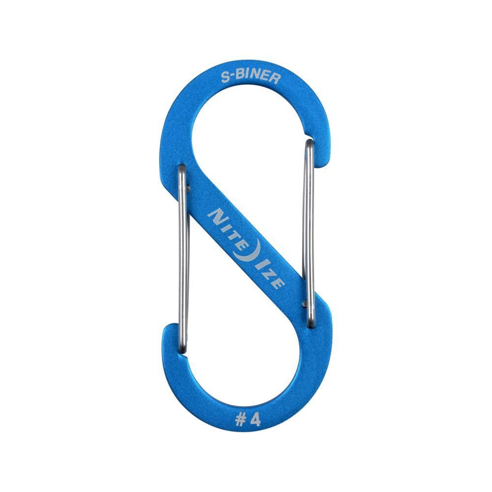 Nite Ize S-Biner Dual Carabiner Aluminum #4 BLUE