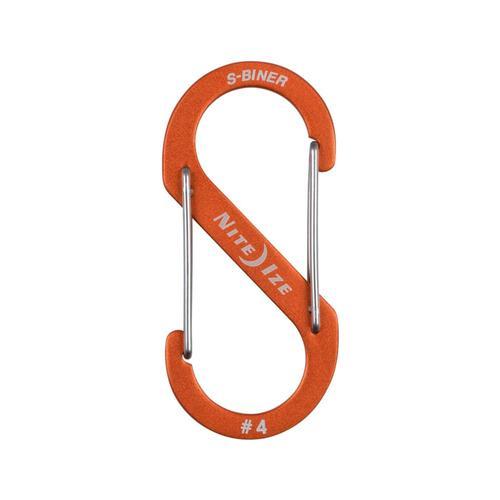 Nite Ize S-Biner Dual Carabiner Aluminum #4 Orange