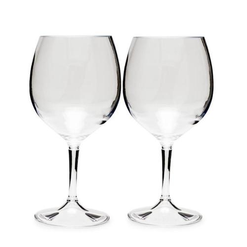 GSI Outdoors Nesting Red Wine Glass Set - 15oz Red