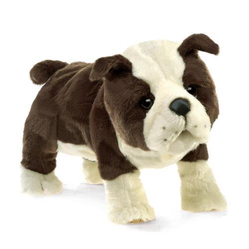 Folkmanis English Bulldog Puppy Hand Puppet