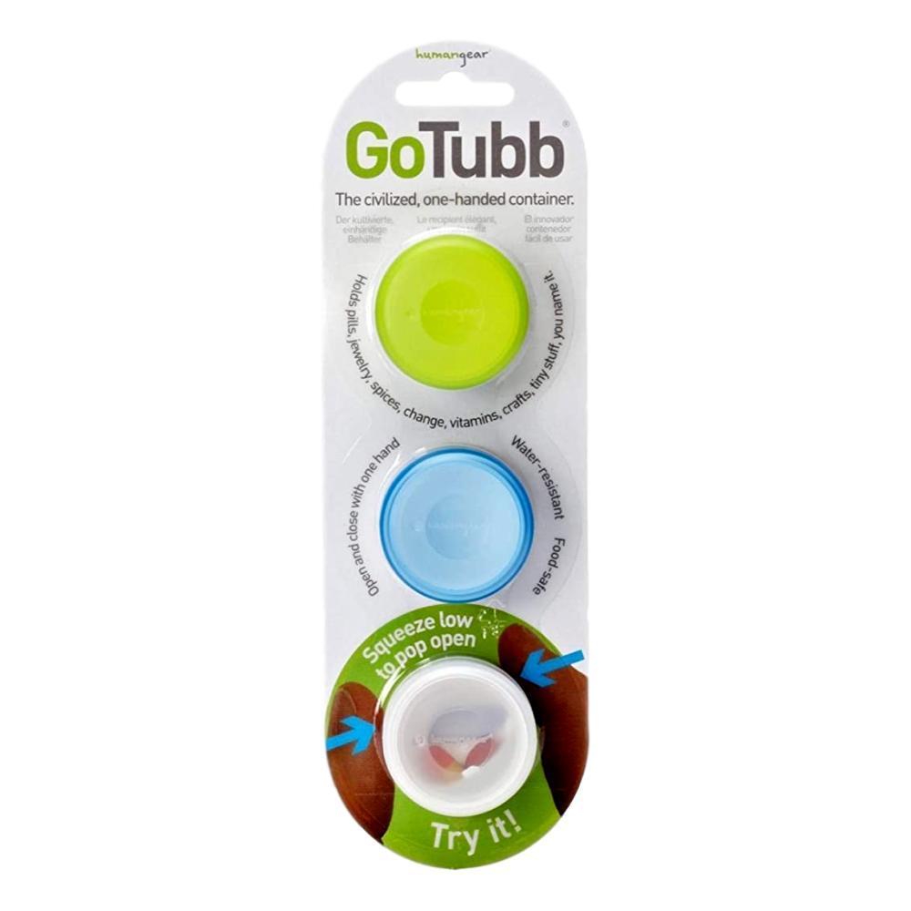 humangear GoTubb - 3-Pack CLR/GRN/BLUE