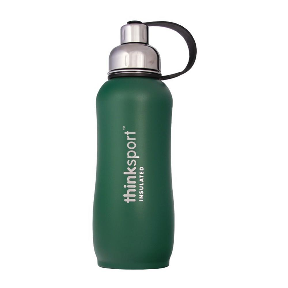 Thinksport Insulated Sports Bottle Powder Coated - 25oz GREEN