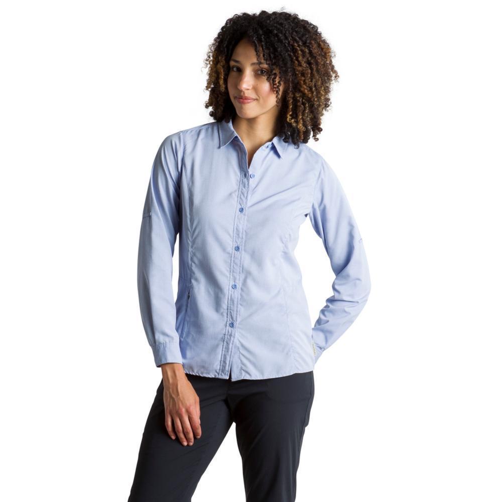ExOfficio Women's BugsAway Brisa Long Sleeve Shirt LOBELIA