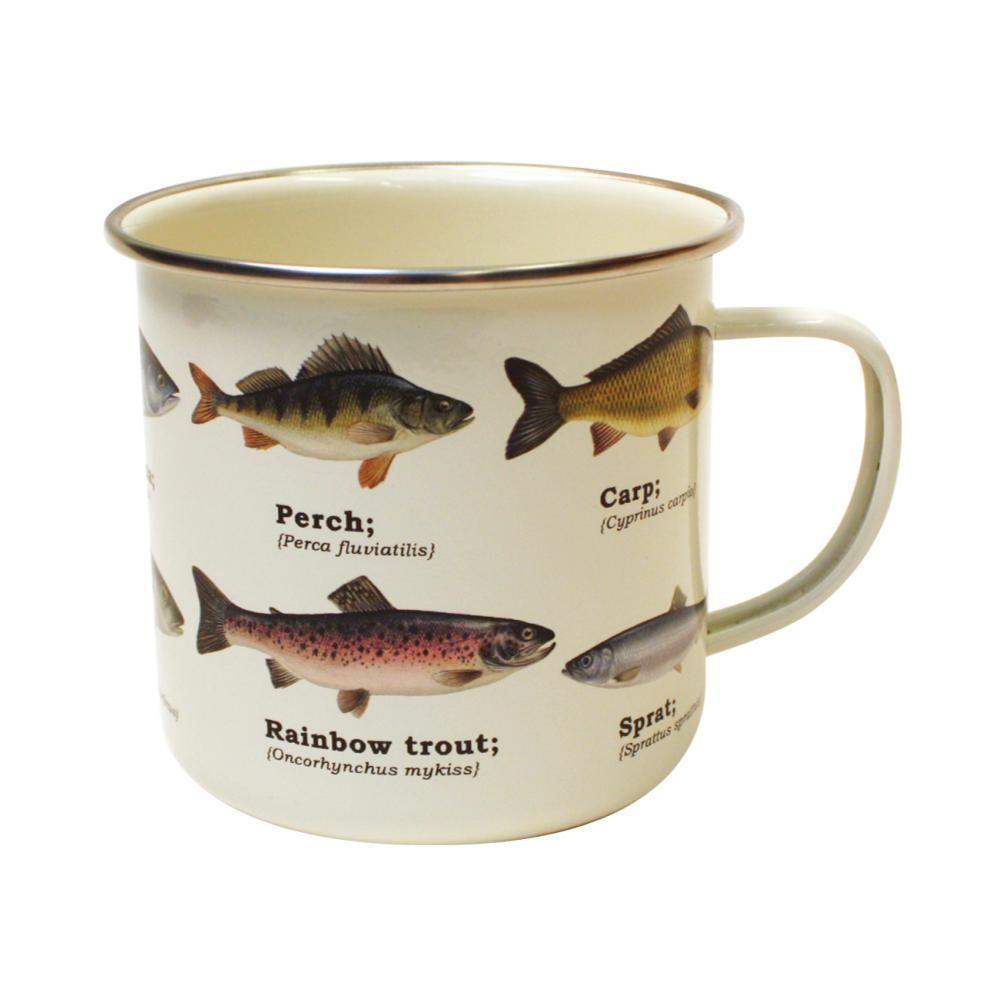 Gift Republic Multi Fish Enamel Mug PALE