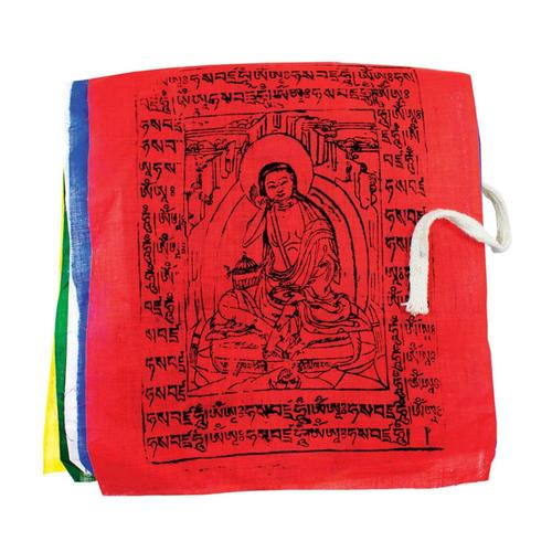 Tibet Collection Prayer Flag: Gu-Chu-Sum Diety - Medium Multi