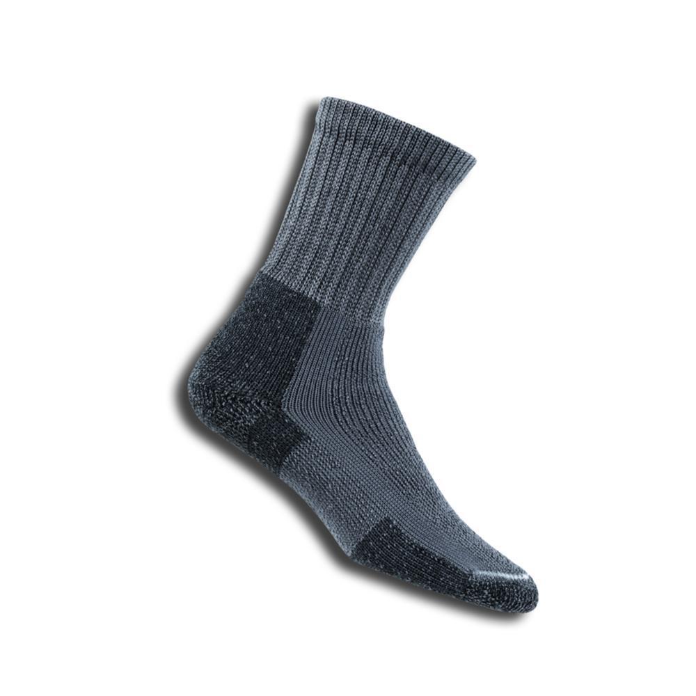 Thorlos Men's KX Hiking Maximum Cushion Crew Socks  PEWTER
