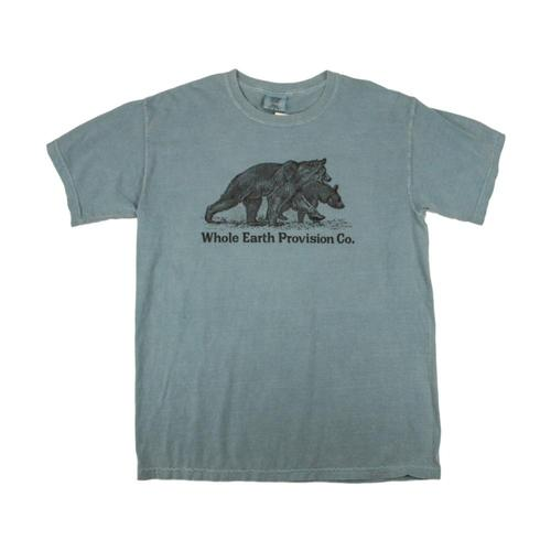 Whole Earth Provision Unisex Classic Bear T-Shirt Iceblue
