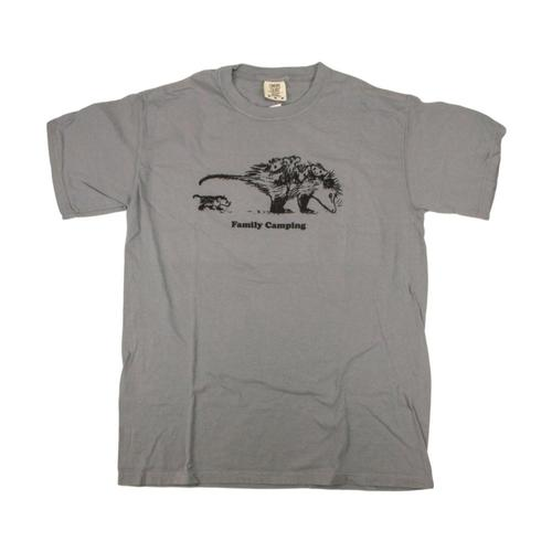 Whole Earth Provision Unisex Classic Possum T-Shirt Granite