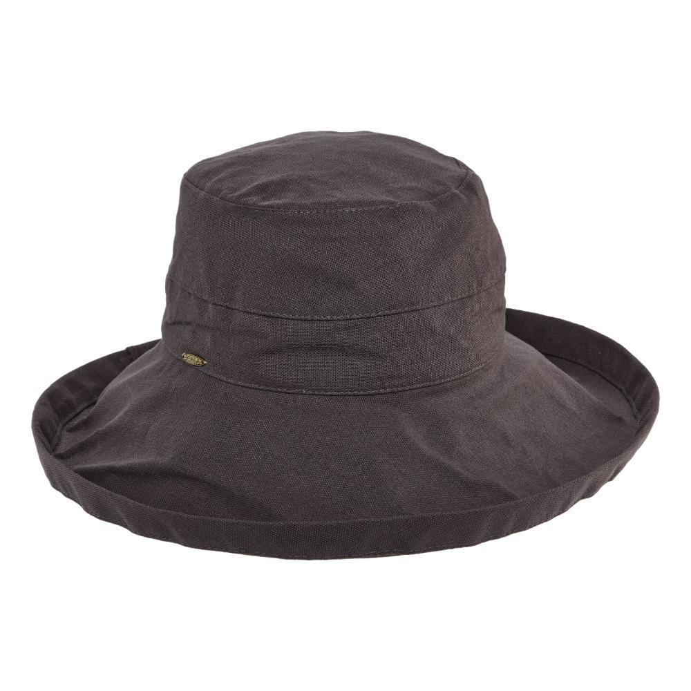 Dorfman Pacific Women's Big Brim Bucket Hat CHARCOAL