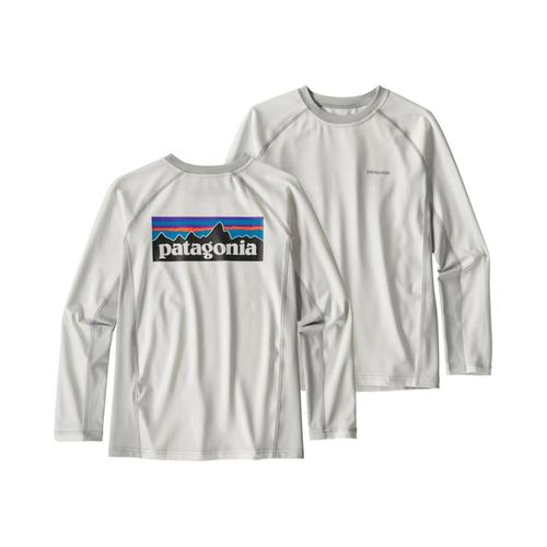 Patagonia Boys Long-Sleeved Silkweight Rashguard Wht_wtgy