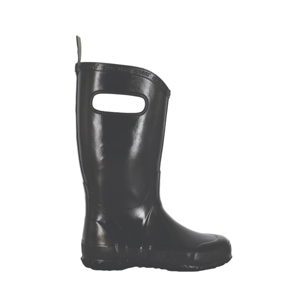Bogs Kids Rain Boots Solid Color BLACK