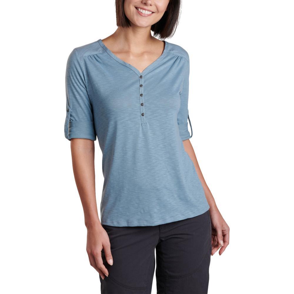 KUHL Women's Shasta 3/4 Sleeve Shirt STONEWASH